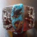 ナバホ Philander・Begay トゥーファーキャスト 3Dカチーナダンサー ターコイズ付 バングル約15・5〜16・5cm用