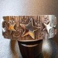 ナバホ Ray・Skts スタンプワーク&アップリケ スターモチーフ ヘビーバングル約15・5〜16cm用