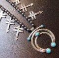 ナバホ?プエブロ? 40〜60Sオールドアンティーク ターコイズ付ナジャ&ドラゴンフライ ネックレス約69cm