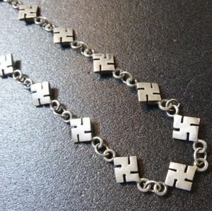 画像1: Used・Antique Fred・Harvey 卍(スワスティカ) ネックレス約57cm