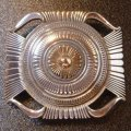 ナバホ Ron・Bedonie 14Kゴールド&シルバー スタンプワーク バックル1・1/4インチ幅