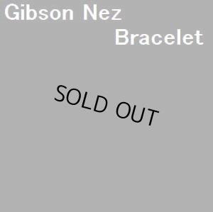 画像1: ナバホ Gibson・Nez スタンプワーク ブルーダイアモンドターコイズ付 バングル