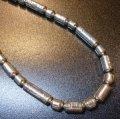 ナバホ 80〜90年代オールドポーン シルバーホロービーズ&スタンプワーク ネックレス約67cm