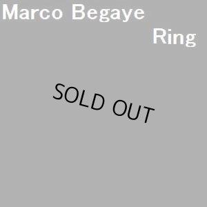 画像1: ナバホ Marco・Begaye オーバレイ ブルーリッジターコイズ付 リング22号