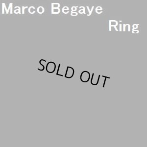 画像1: ナバホ Marco・Begaye オーバレイ ナンバーエイトターコイズ&ゴールドetc リング21号
