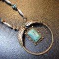 ナバホ 60〜70Sオールドポーン ブルーターコイズ付 ペンダントネックレス約65cm
