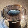 ナバホ Kee・Nez オーバレイ サンバースト×キングマンターコイズ付 バングル約15・5〜16・5cm用
