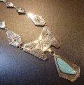 ナバホ Steven・Joe・Begay オーバレイ ナンバーエイトターコイズ付 BIGサイズペンダント&ネックレス約66cm